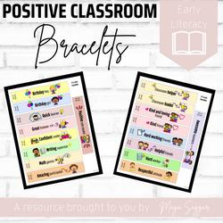 Positive Classroom Bracelets | Maya Saggar