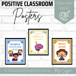 Positive Classroom Posters | Maya Saggar