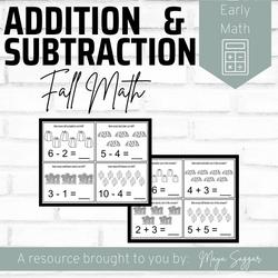 Addition and Subtraction Fall Math | Maya Saggar