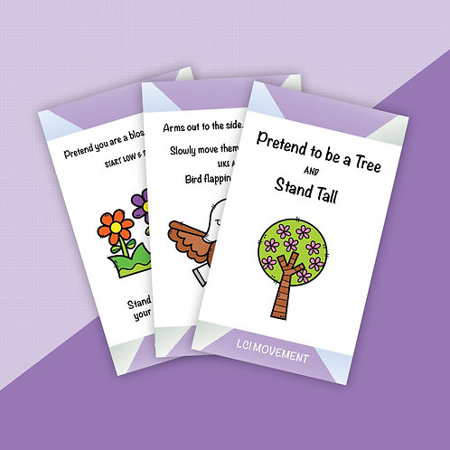Camping Yoga Cards