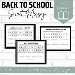 Back to School Secret Message Decoding | Maya Saggar