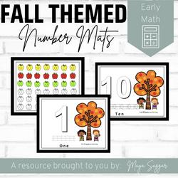 Fall Themed Number Mats | Maya Saggar
