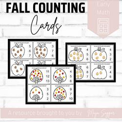 Fall Counting Cards | Maya Saggar