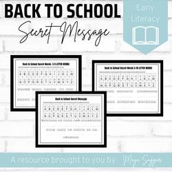 Back to School Secret Message | Maya Saggar