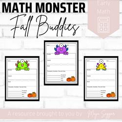 Math Monsters Fall Buddies | Maya Saggar