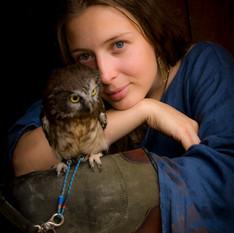 Foto: Anna Maria Bielecka - Foto Elve Modelka i sowa ;) Sowia dusza i Agnieszka Borowska Na zdjęciu sowa SZU