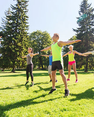 fitness, sport, friendship and healthy lifestyle concept - group of happy teenage friends
