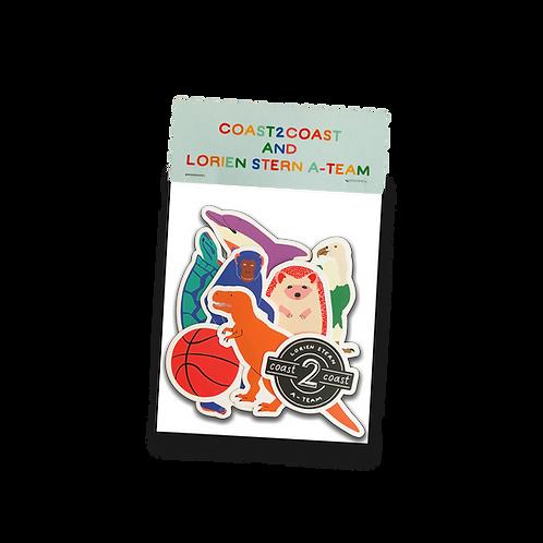 c2c x Lorien Stern A-Team Sticker Pack