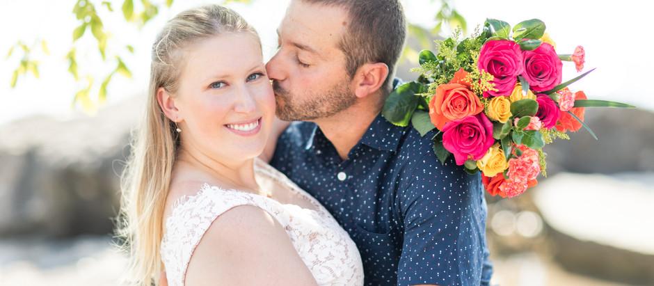 Jen & Patrick's Beautifully Bright Beach Wedding - July 26th 2020