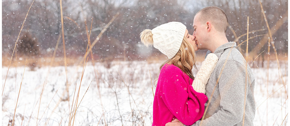 Kaily & Nick - A Snowy Engagement Session