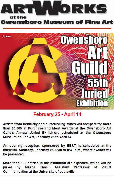 Two Paintings selected for Owensboro Museum of Fine Art Exhibit!