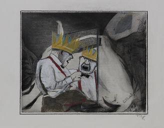hommage an Gerd Voss Radierung coloriert