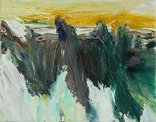 landscape II (green, yellow) 20x25cm 202