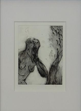 hommage M. Lassnig 40x30 cm (schwarz) 20