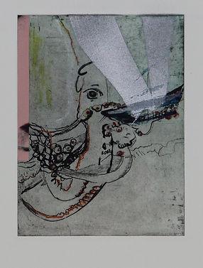 octopussy Radierung 40x30cm im Rahmen 20