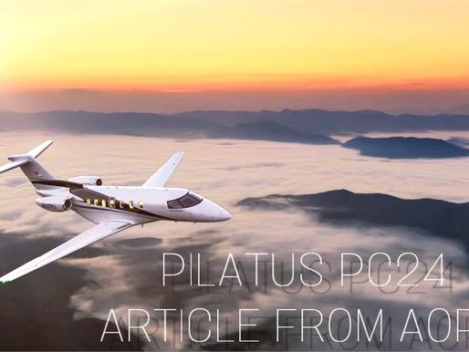 Pilatus PC24 featured in AOPA Article/Video
