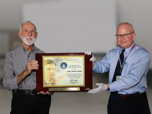 Banyan Air Service Inspector Receives Charles Taylor Master Mechanic Award