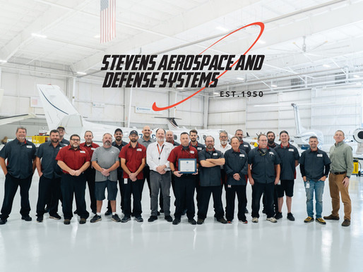 STEVENS AEROSPACE RECOGNIZED BY NATIONAL GUARD AND RESERVE SUPPORT