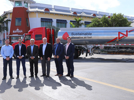 Banyan Receives First Delivery of Sustainable Alternative Fuel