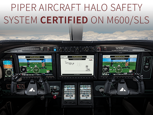 Piper Aircraft HALO Safety System Certified on M600/SLS