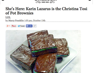 "The Braiser: ""She's Here: Karin Lazarus is the Christina Tosi of Pot Brownies"""
