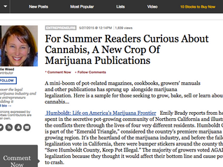 Forbes: For Summer Readers Curious About Cannabis, A New Crop Of Marijuana Publications