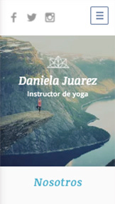 Bienestar y Salud website templates – Instructor de Yoga