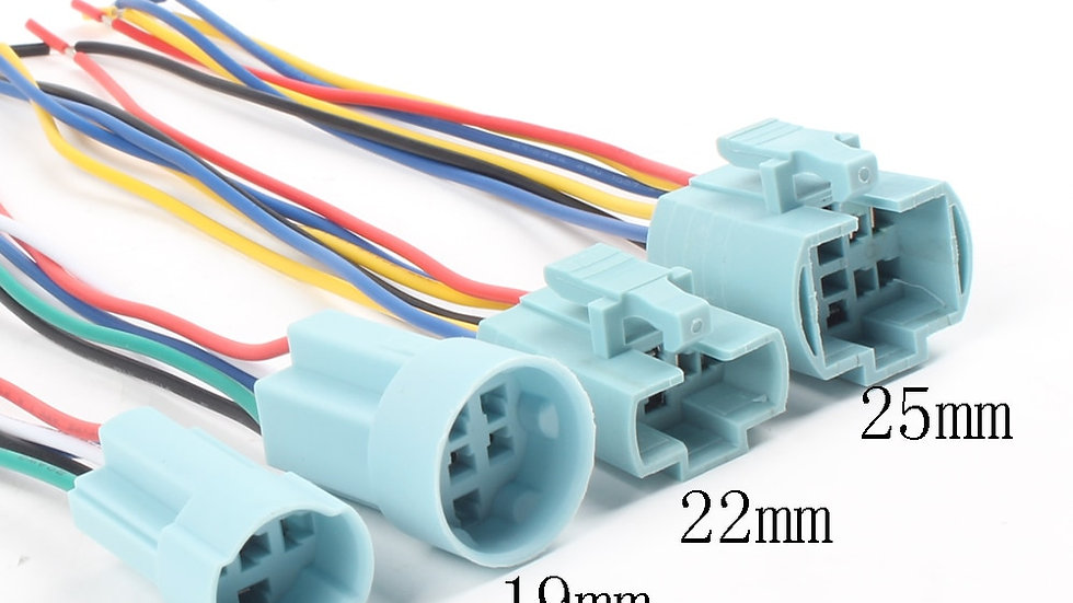 16mm 19mm 22mm Cable Socket for Metal Push Button Switch Wiring Harness 2-6 wire