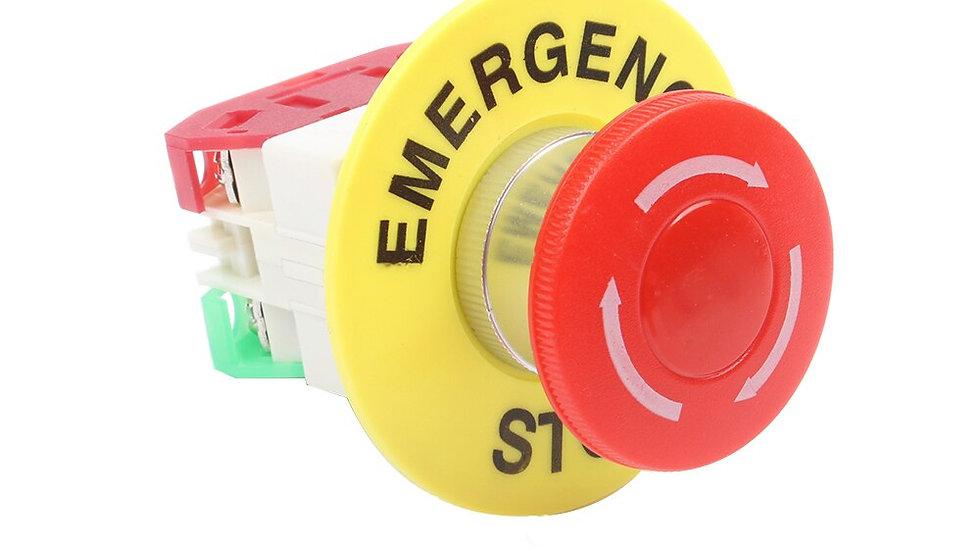 1NO 1NC Emergency Stop Push Button Switch Latching Self Lock DPST Mushroom