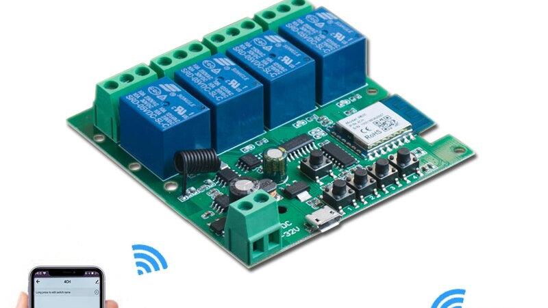 4 Channel WiFi Switch Works with TUYA, Smart Life, Alexa, Google Home