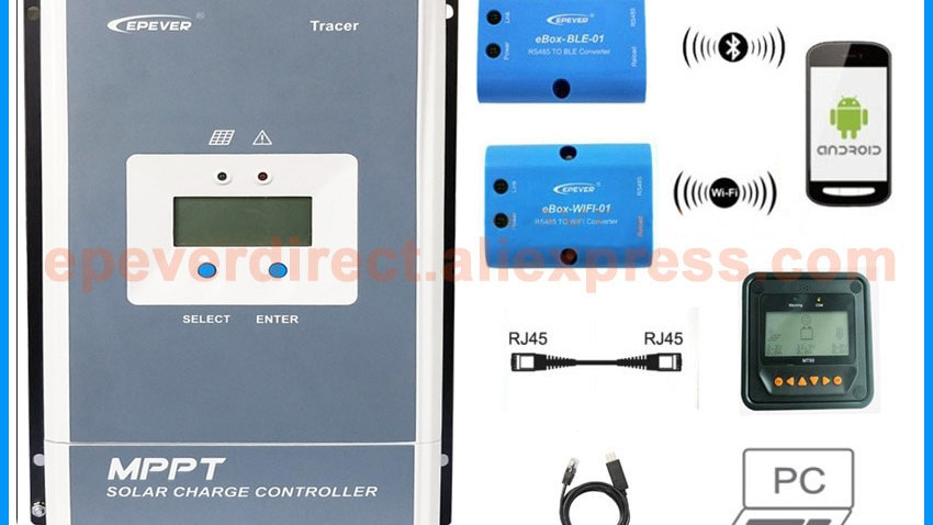 EPEVER MPPT Solar Charge Controller 100A 80A 60A 50A Battery Charger Regulator
