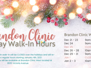 Walk-In Holiday Hours