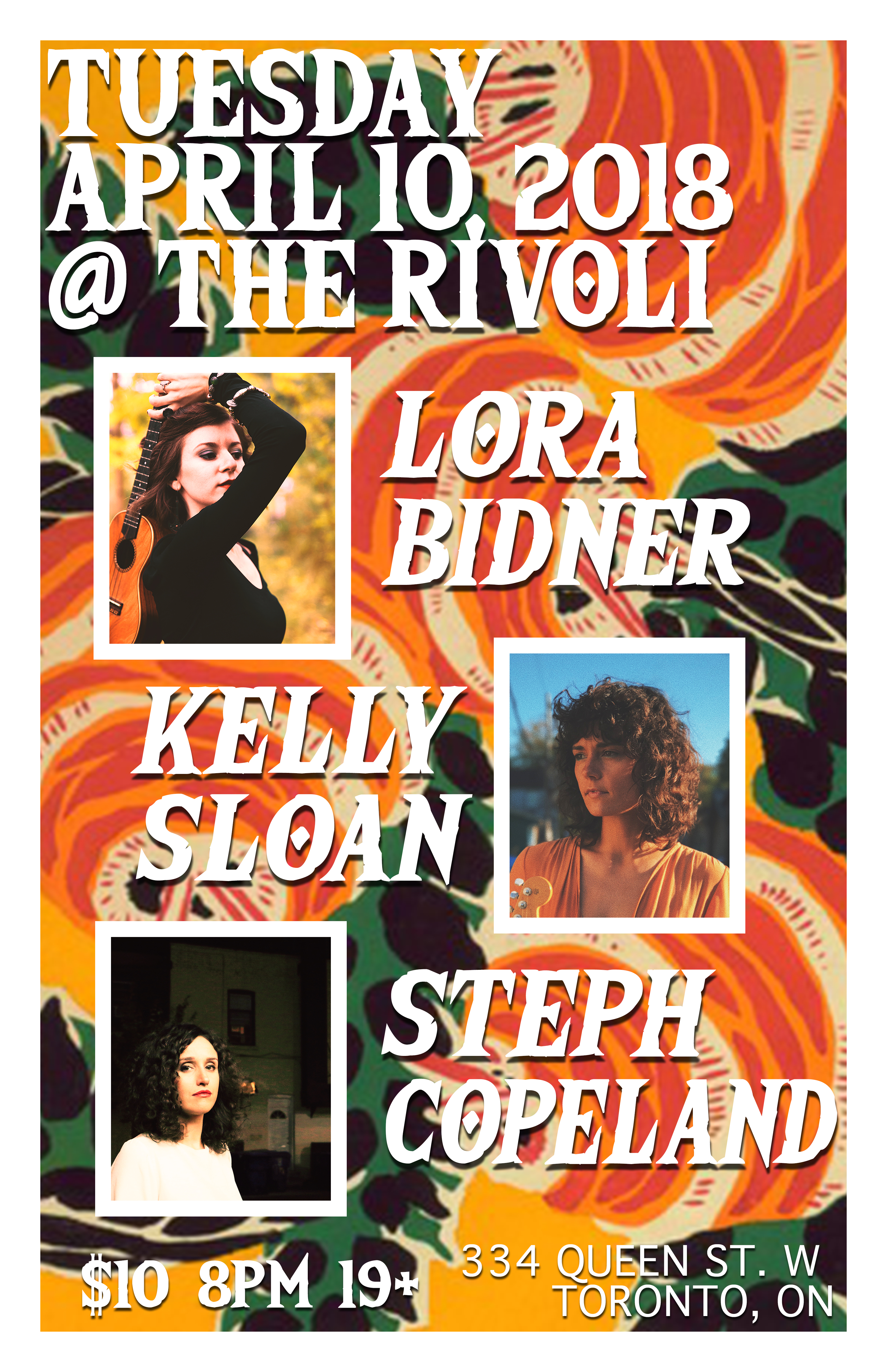 April 10 Rivoli lora bidner 2018