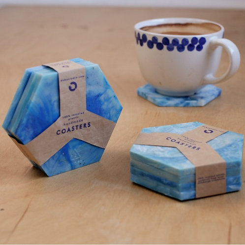 "Drink Coasters Set ""SAPPHIRES"""