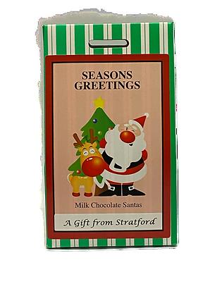 Milk Chocolate Mini Santas