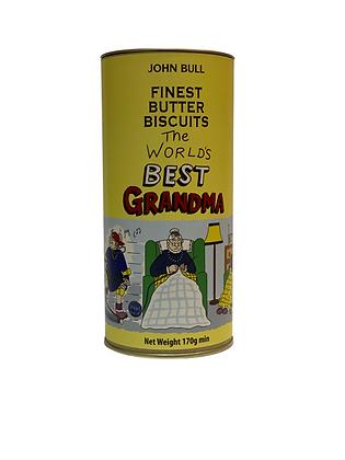 Worlds Best Grandma Butter Biscuit Tin