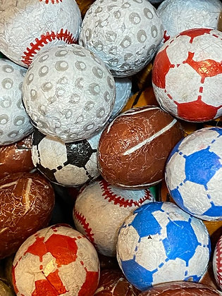 Choc Covered Sports balls