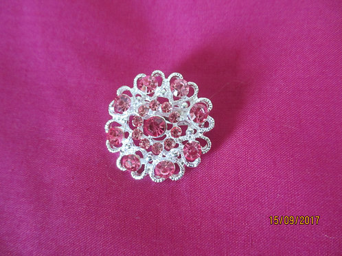 Pretty Brooch with Pink Stones