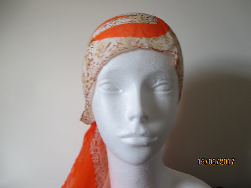 Silky Burnt Orange Long Scarf
