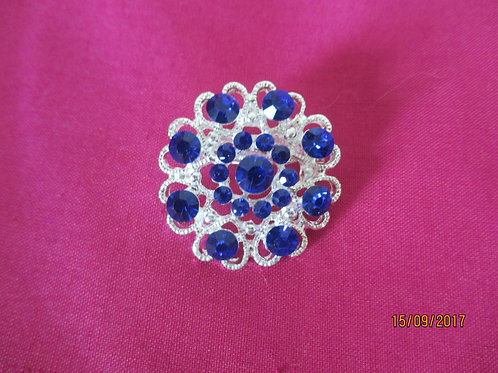 Pretty Brooch with Blue Stones