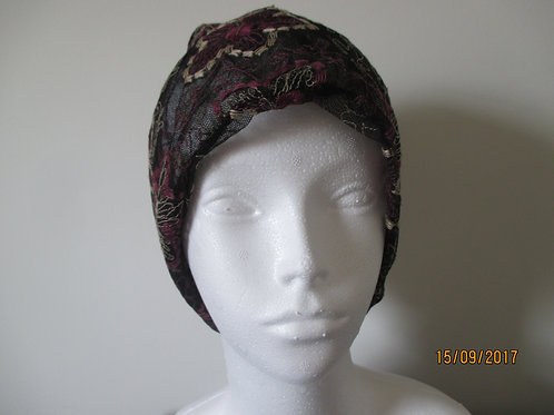 Lace Hat with Flower Design