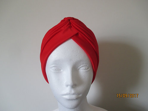 Red Pleated Turban