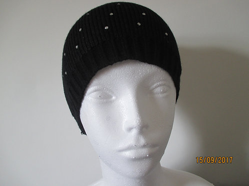 Knitted Beanie with DiamanteTrim