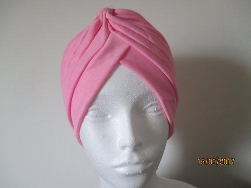 Pink Pleated Turban