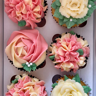 Butter, Sugar, Flower Cupcakes