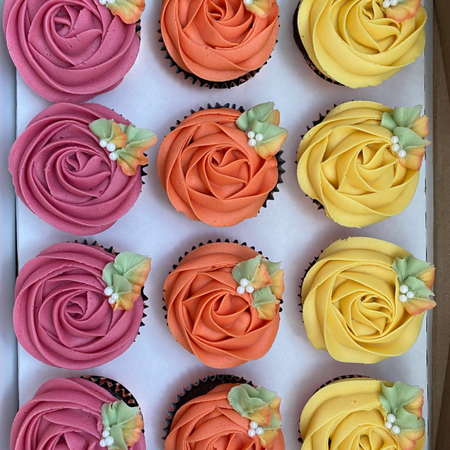 Butter, Sugar, Flower Rose Cupcakes