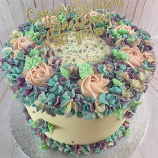 10 Inch Floral Cake