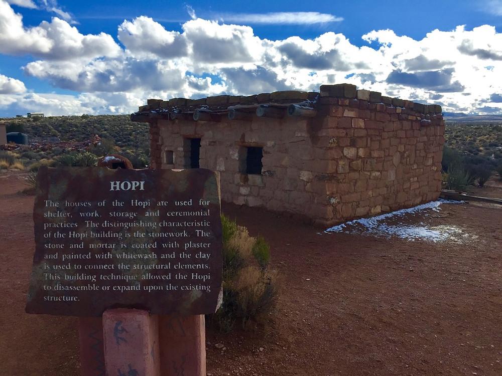 Hopi shelter, Grand Canyon West