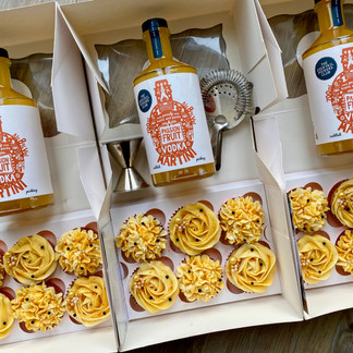 Passionfruit cupcakes and cocktails - you must provide the bottles