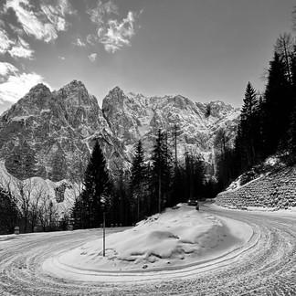 Snowy Vršič Pass